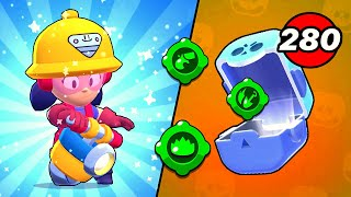 280x Brawl Box Opening and NEW JACKY POWER UP! | Brawl Stars
