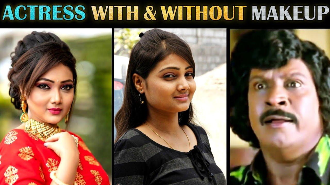 Serial Actresses With & Without Makeup Troll - Part 7   South Indian Actress   Tamil   Rakesh & Jeni