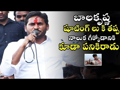 YS Jagan Mohan Reddy Sensational Comments on Nandamuri Balakrishana | TE TV