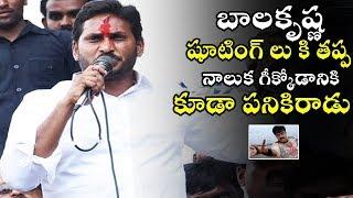 YS Jagan Mohan Reddy Sensational Comments on Nandamuri Balakrishana   TE TV