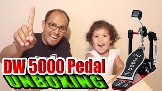 DW 5000 Series Single Pedal Unboxing by Celine Molina and Ricky Molina