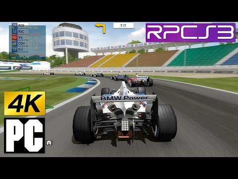 PS3 F1 Championship Edition on PC 4k RPCS3 Emulator (Studio Liverpool)