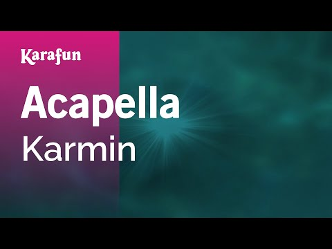 Karaoke Acapella  Karmin *