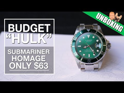 "Budget Alternative To Rolex Submariner ""Hulk"" - Loreo Diver Watch Unboxing"