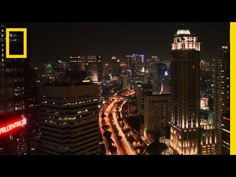 Onward: Beautiful Nighttime Motorcycle Ride Through Jakarta  | National Geographic