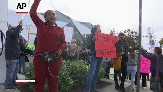 Protest marks Trump's visit to Atlanta