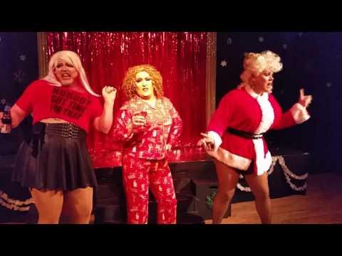 "Anita Jon, Alexis Hex, and Christina Rose performing DWV's ""That Christmas Song."""