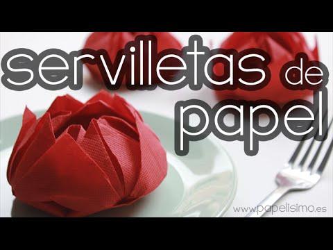 Doblar Servilletas De Papel Con Formas Originales Flor De Papel Youtube