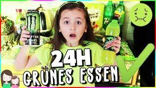 24h GRÜNES ESSEN & NEON GRÜNE KLAMOTTEN🥬 Die grüne Challenge 🤗 Alles Ava