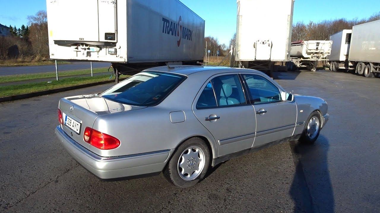3/Ремонт после аварии Mercedes W210 Repair Rear Plastic Bumper