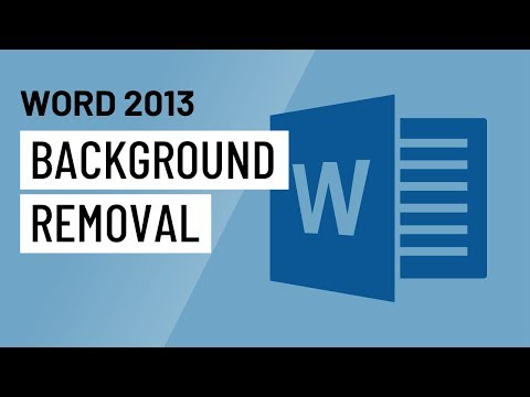 Word 2013 Background Removal