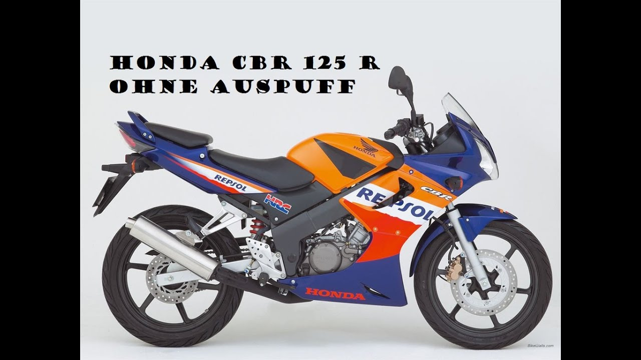 honda cbr 125 r ohne auspuff youtube. Black Bedroom Furniture Sets. Home Design Ideas