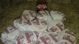 Mcdonald's 10 Hamburger Solo Challenge + Satan's Rage Ghost Pepper Sauce