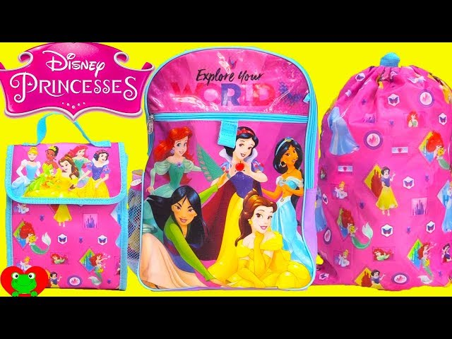 Disney Princess Back To School Backpack Surprises Videos