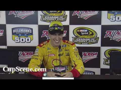 NASCAR at Talladega Superspeedway, Oct. 2016: Joey Logano post race