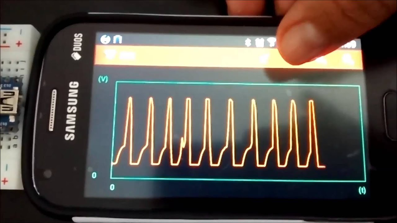 Arduino android bluetooth ecg youtube