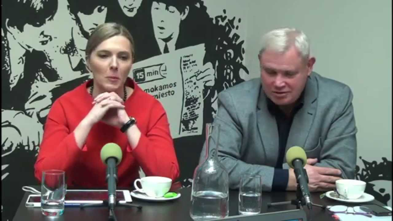 15min.lt debatuose – kandidatai į Klaipėdos merus Vytautas Grubliauskas ir Agnė Bilotaitė