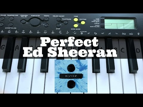 Perfect – Ed Sheeran | Easy Keyboard Tutorial With Notes (Right Hand)