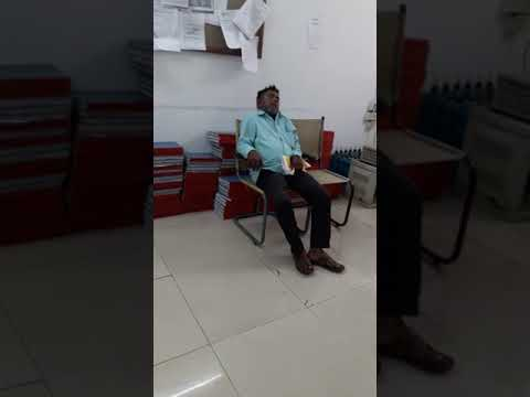 Customer Sleeping in New India Assurance office