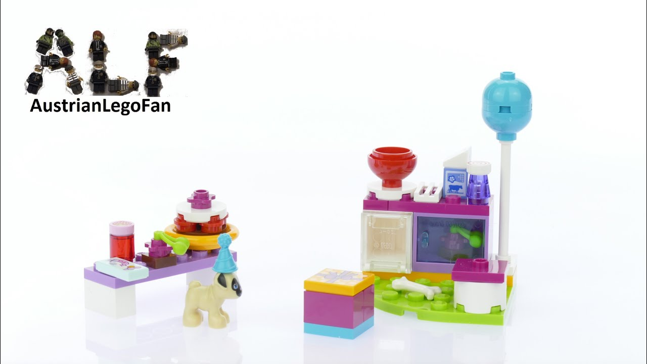 Lego Friends 41112 Party Cakes - Lego Speed Build Review - YouTube