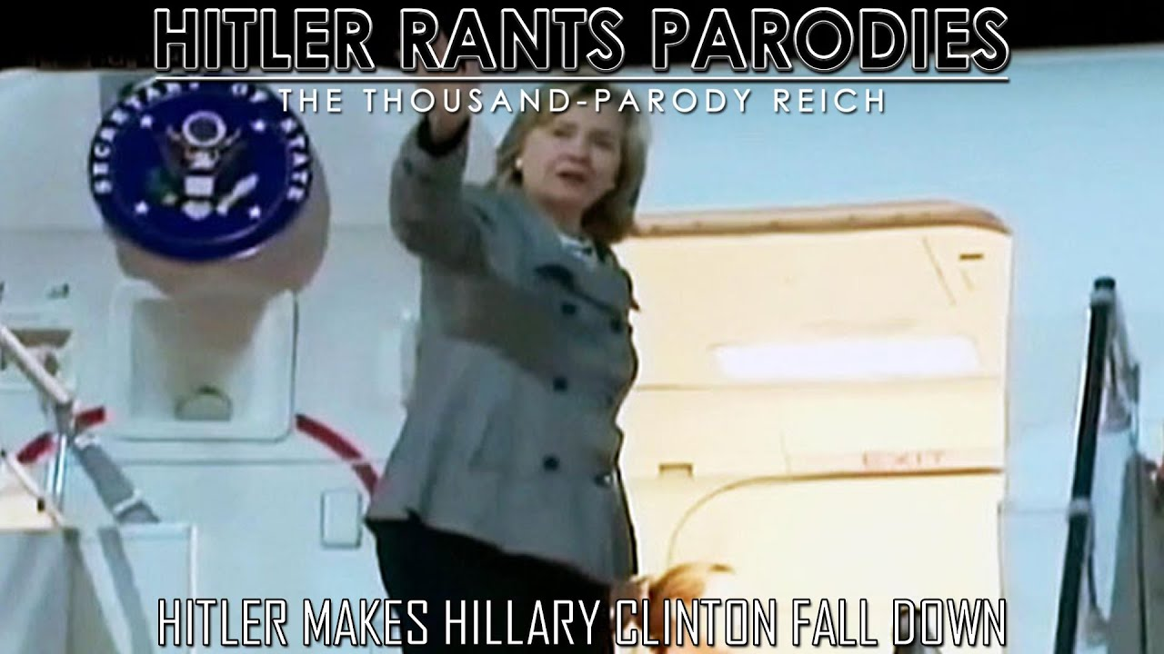 Hitler makes Hillary Clinton fall down