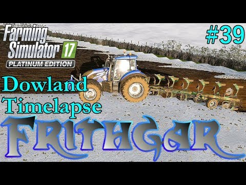 FS17 Timelapse, Dowland Farm Seasons #39: Ploughing In The Snow!