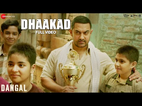 Dhaakad - Lyrics Video | Dangal | Aamir Khan | Pritam | Amitabh Bhattacharya | Raftaar