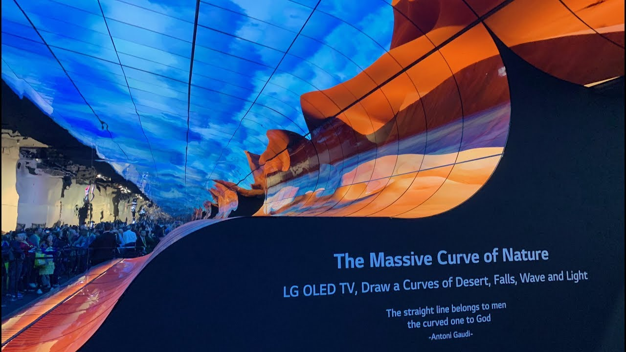 Lg S Ces 2019 Curved Oled Screen Booth Display Youtube