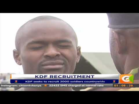 Thousands of job seekers flock into KDF recruitment grounds