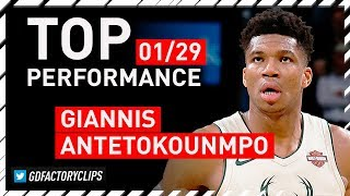 Giannis Antetokounmpo TOP Full Highlights vs Sixers - 31 Pts, 18 Reb, 6 Ast | 2018.01.29