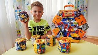 Ready2Robot Игрушки сюрпризы со слизью! Битва Роботов!