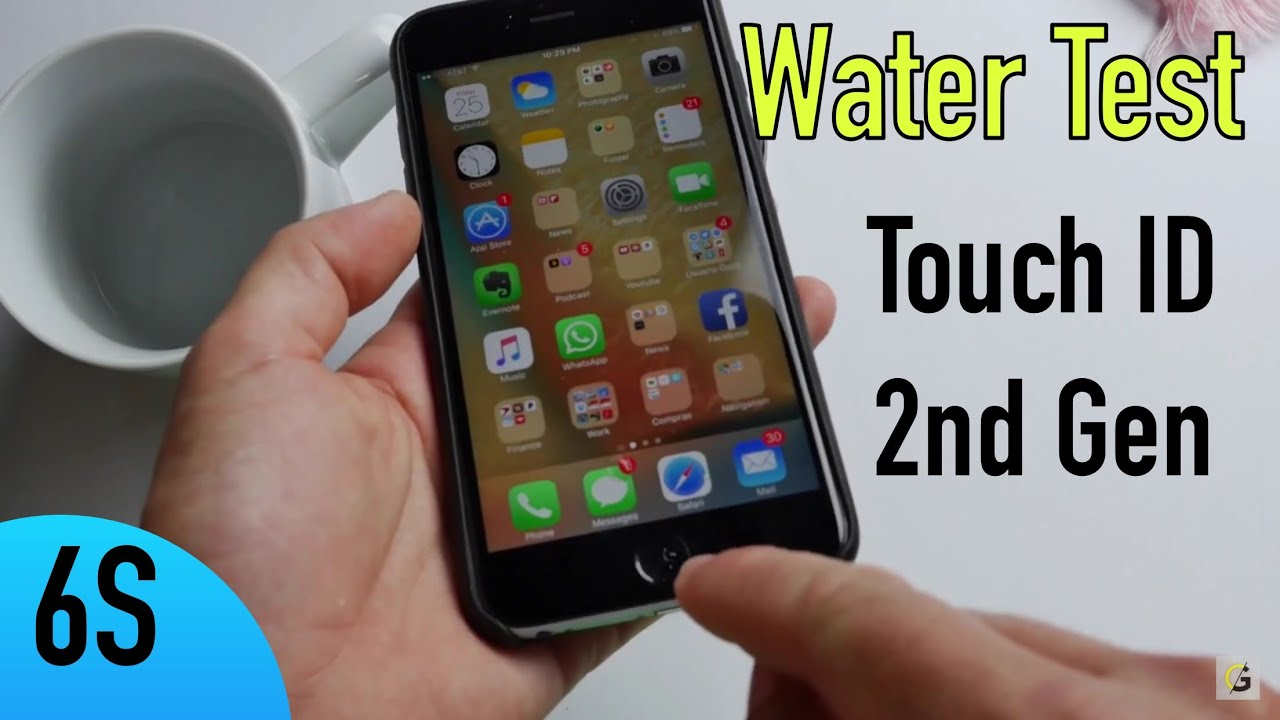 iphone water test apple iphone 6s touch id water test espa 241 ol 12483