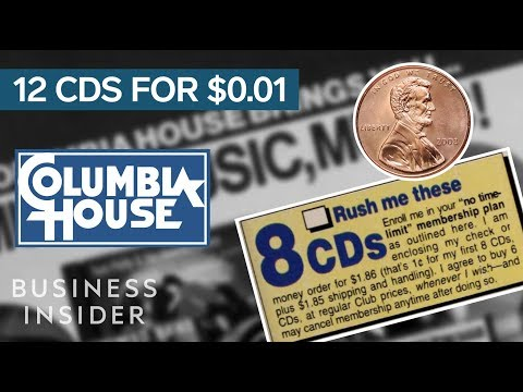 How Columbia House Sold 12 CDs For A Penny