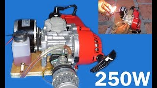 How to make 250W Generator using 2 stroke engine