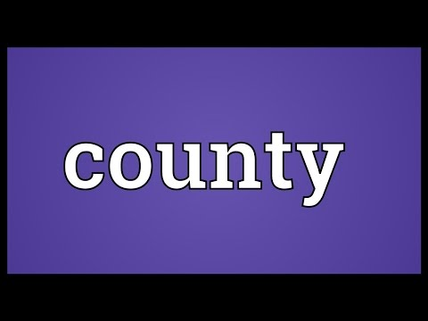 County Meaning