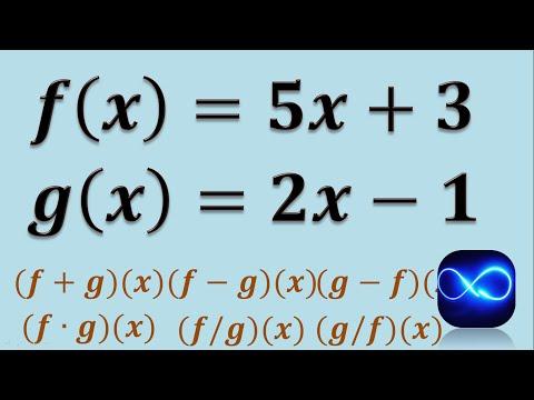 Operaciones con funciones (Suma, resta, multiplicación y división) (Ejemplo 1) thumbnail