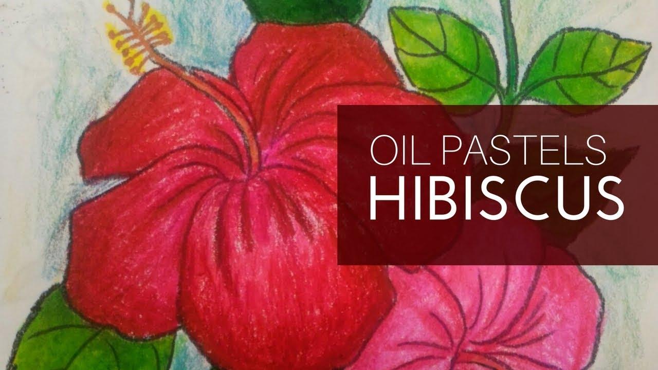 Hibiscus flower artwork oil pastel art flower colouring youtube hibiscus flower artwork oil pastel art flower colouring izmirmasajfo