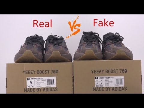 huge discount 9e06e 50c07 Real VS Fake!!!Yeezy 700 Mauve Unboxing Review