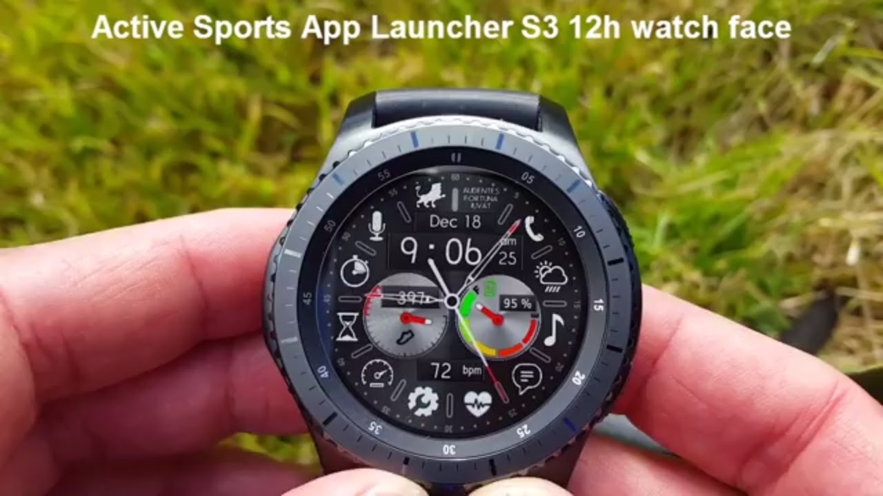 samsung gear s3 active sports app launcher watch face with speedometer stopwatch timer s. Black Bedroom Furniture Sets. Home Design Ideas