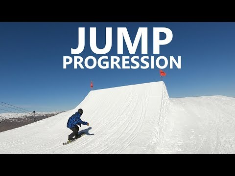 Snowboard Jump Progression From Small To XL