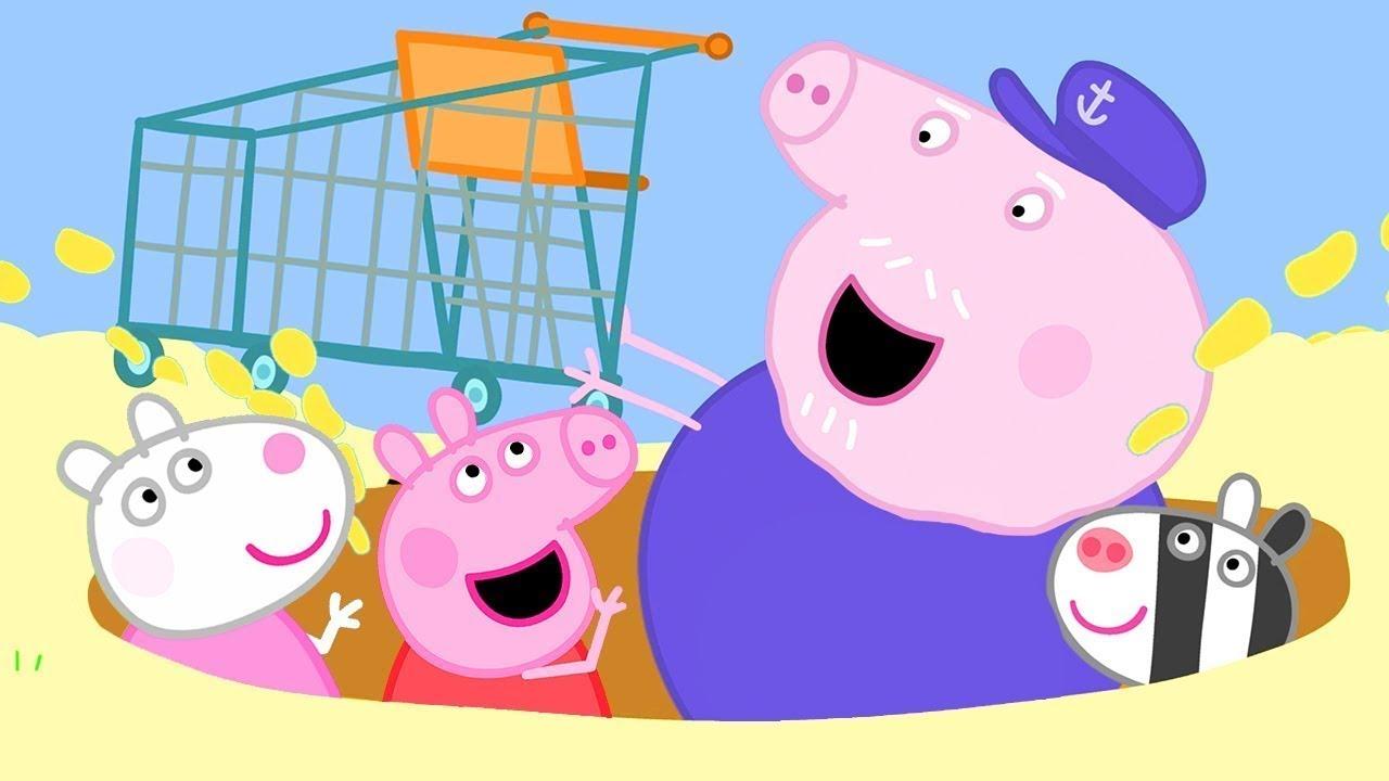 Peppa Pig Français | Peppa Trouve Un Chariot Sur La Plage | Dessin Animé Pour Bébé