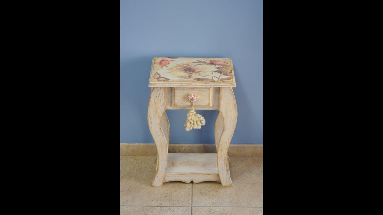Mueble Vintage - Sublimacion sobre Madera - Maria Rita Pinotti - YouTube