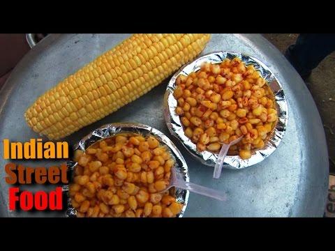 street food of india gujarat - american sweet corn - gujarati street food ahmedabad