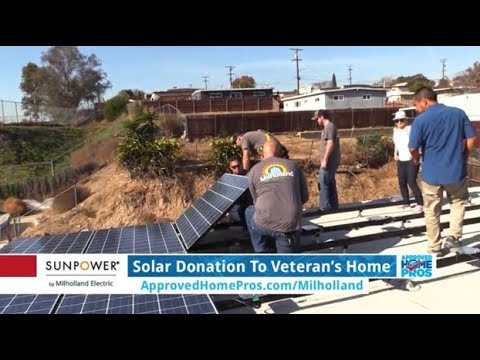 San Diego Solar: Solar Panel Donation To A Veteran In Need