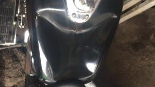 Устранение вмятины на бензобаке, на примере Honda Shadow 750!!!(После первых поездок на мото в этом сезоне, Александр оставил прогретый мотоцикл в гараже, и на следующий..., 2015-04-05T20:16:23.000Z)
