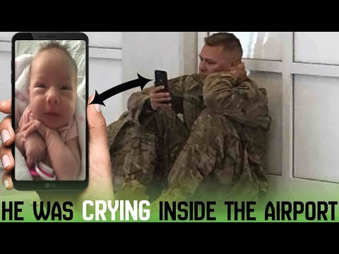 Staff notices army man crying inside the airport and decides to take matter into their own hands.