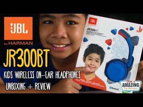 Jbl Jr300bt Kids Wireless Bluetooth On Ear Headphones Unboxing Review Youtube