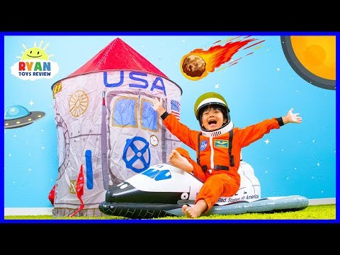 Why Do Astronauts Wear Space Suits??? | Educational Video for kids with Ryan ToysReview