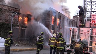 Paterson NJ Fire Department Heavy Fire in a vacant Mill 29 McBride Ave