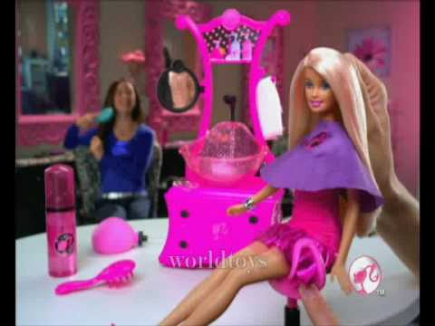 2009 º Barbie Styling Salon Doll Commercia YouTube